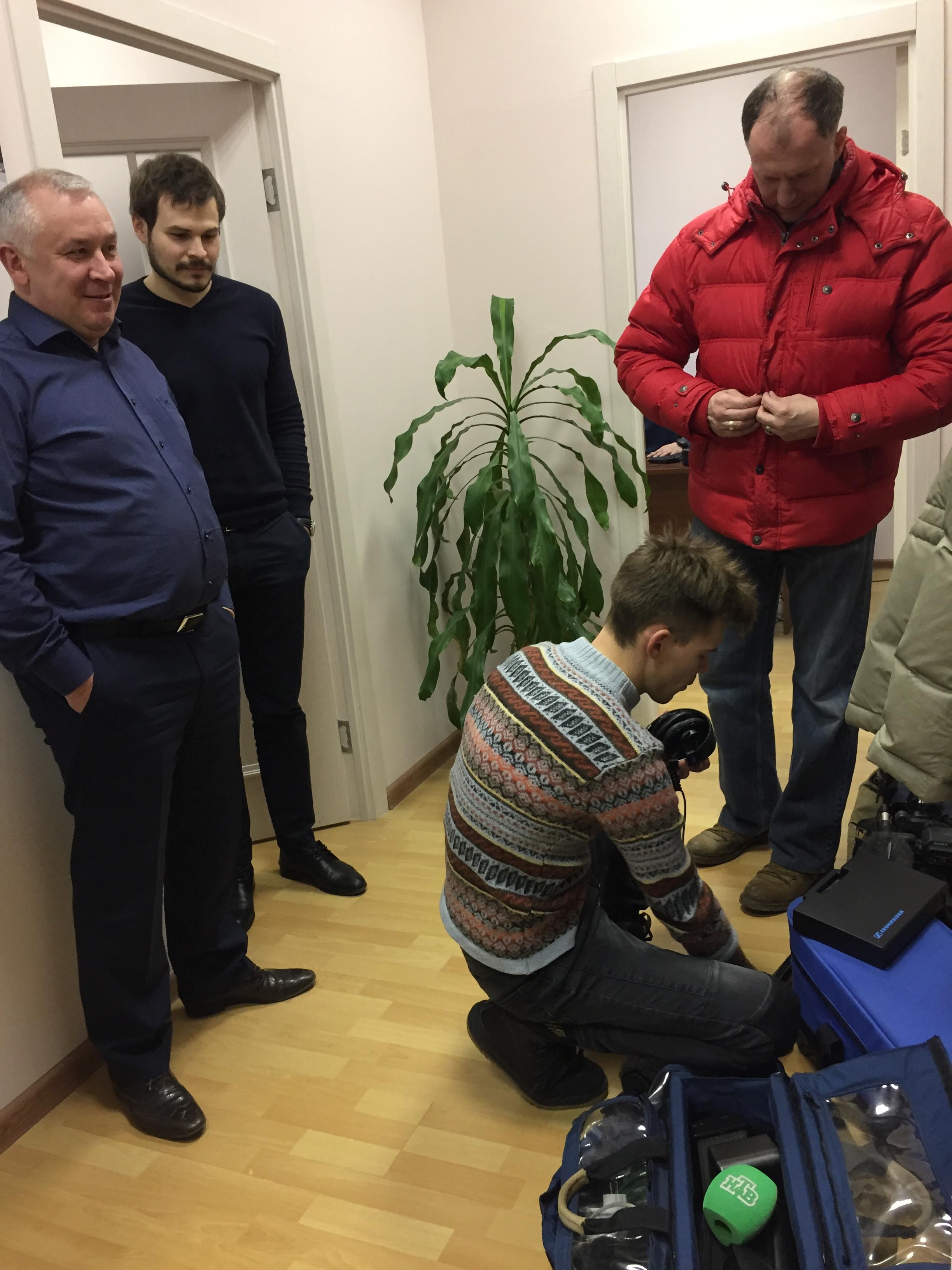 Телеканал НТВ в офисе Межрегионального центра экспертизы и оценки